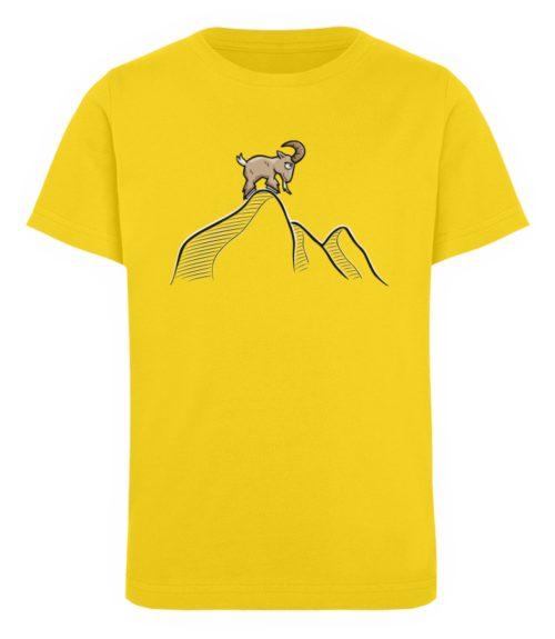 Ziegenbock in den Bergen - Kinder Organic T-Shirt-6905