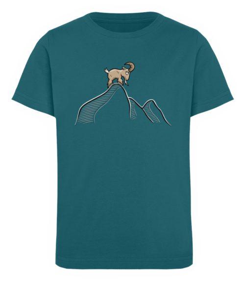 Ziegenbock in den Bergen - Kinder Organic T-Shirt-6889