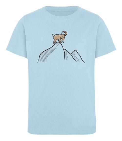 Ziegenbock in den Bergen - Kinder Organic T-Shirt-6888