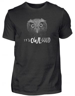 It-s OWL Good   Kritzel-Kunst-Eule - Herren Shirt-16