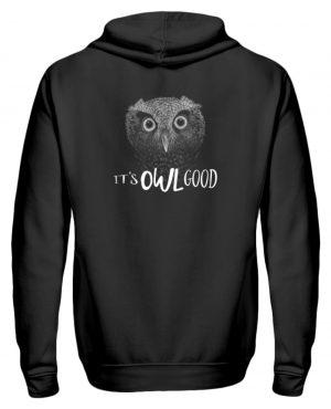 It-s OWL Good | Kritzel-Kunst-Eule - Zip-Hoodie-16