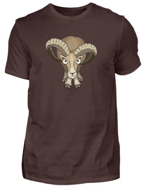 Bockiges Mufflon Widder Schafbock - Herren Shirt-1074