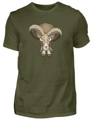 Bockiges Mufflon Widder Schafbock - Herren Shirt-1109