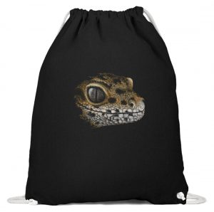 Leopard Gecko Skizze Kritzel-Kunst - Baumwoll Gymsac-16