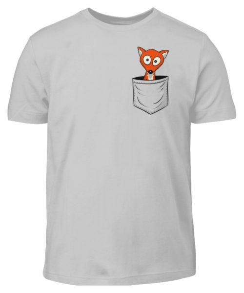 Fuchs in der Brusttasche   Taschen-Fuchs - Kinder T-Shirt-1157
