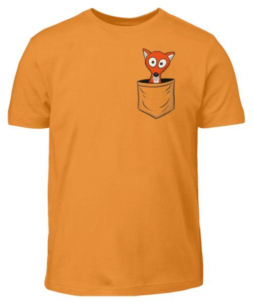 Fuchs in der Brusttasche   Taschen-Fuchs - Kinder T-Shirt-20