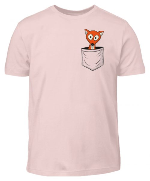 Fuchs in der Brusttasche   Taschen-Fuchs - Kinder T-Shirt-5823
