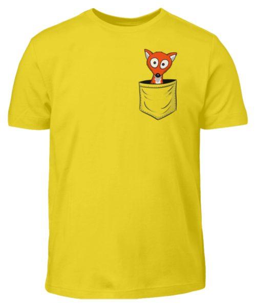 Fuchs in der Brusttasche   Taschen-Fuchs - Kinder T-Shirt-1102