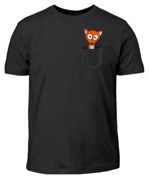 Fuchs in der Brusttasche   Taschen-Fuchs - Kinder T-Shirt-16