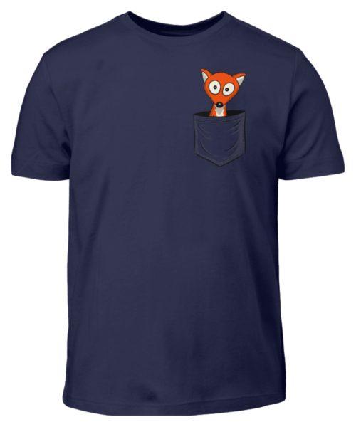 Fuchs in der Brusttasche   Taschen-Fuchs - Kinder T-Shirt-198