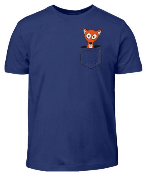 Fuchs in der Brusttasche   Taschen-Fuchs - Kinder T-Shirt-1115