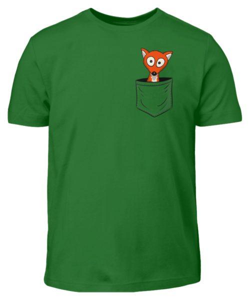 Fuchs in der Brusttasche   Taschen-Fuchs - Kinder T-Shirt-718