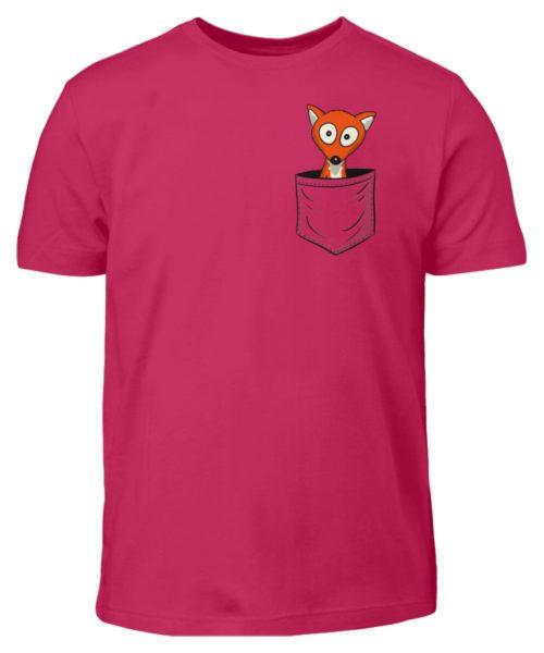 Fuchs in der Brusttasche   Taschen-Fuchs - Kinder T-Shirt-1216