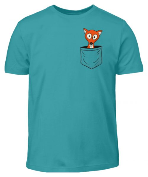 Fuchs in der Brusttasche   Taschen-Fuchs - Kinder T-Shirt-1242