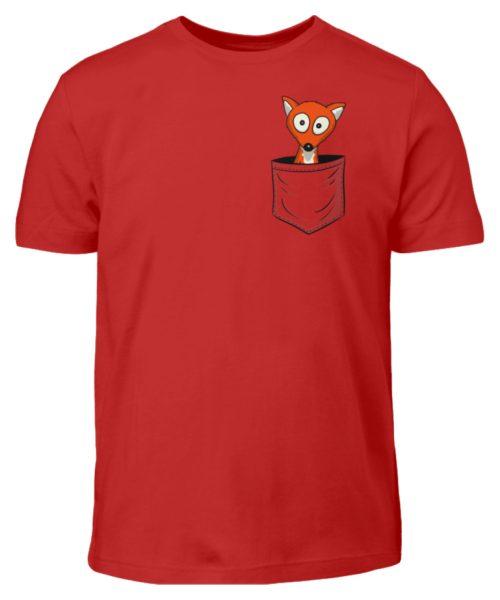 Fuchs in der Brusttasche   Taschen-Fuchs - Kinder T-Shirt-4