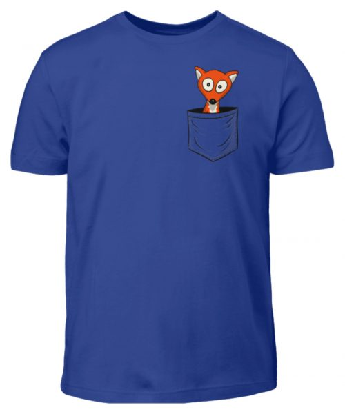 Fuchs in der Brusttasche   Taschen-Fuchs - Kinder T-Shirt-668