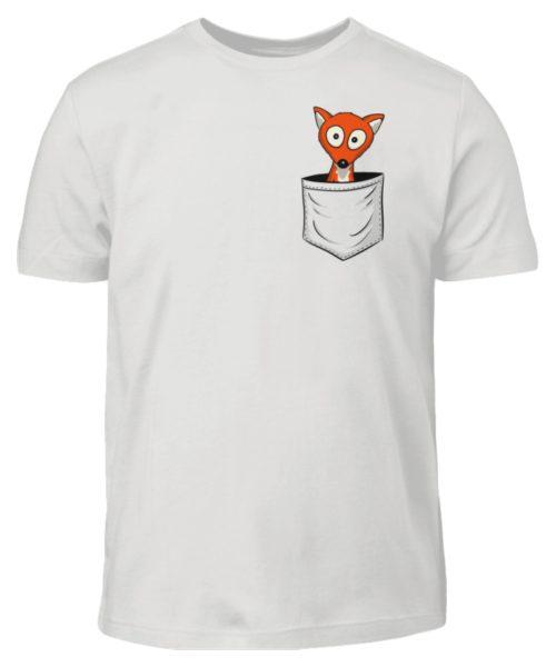 Fuchs in der Brusttasche   Taschen-Fuchs - Kinder T-Shirt-1053