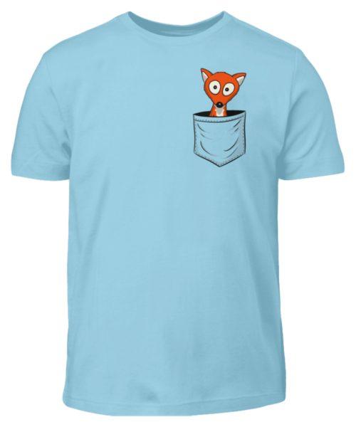 Fuchs in der Brusttasche   Taschen-Fuchs - Kinder T-Shirt-674