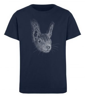 Eichhörnchen Bleistift Illustration - Kinder Organic T-Shirt-6887