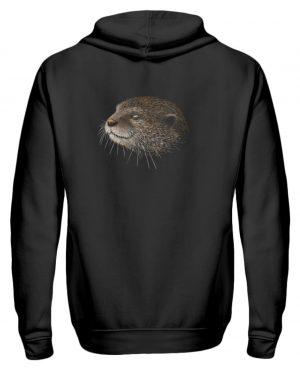 Otter Bleistift Zeichnung Kritzel-Kunst - Zip-Hoodie-16