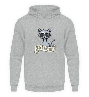 Stay Pawsitive Bleib lässig Hipster Katze - Unisex Kapuzenpullover Hoodie-6807