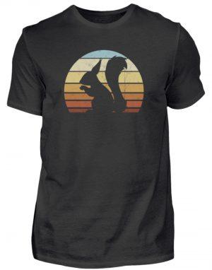 Retro Eichhörnchen Silhouette Squirrel - Herren Shirt-16