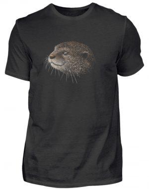 Otter Bleistift Zeichnung Kritzel-Kunst - Herren Shirt-16