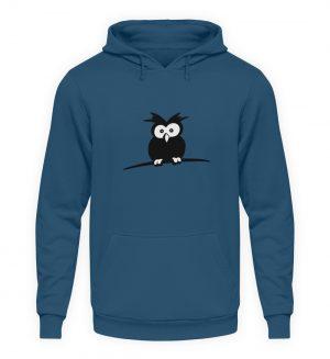 struppige Eule - das Shirt ist ein Muß für alle aufgeweckten Eulen-Fans - Unisex Kapuzenpullover Hoodie-1461