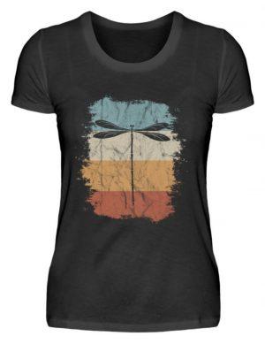 Retro Art Libelle | Vitage Libellen-Silhouette - Damen Premiumshirt-16