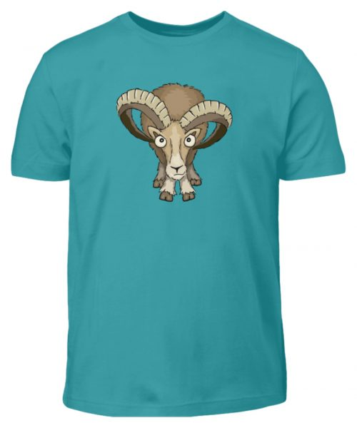 Bockiges Mufflon Widder Schafbock - Kinder T-Shirt-1242