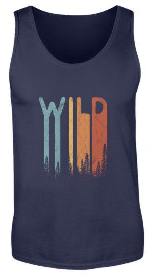 Wild Retro wilder Wald Schriftzug - Herren Tanktop-198