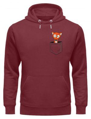 Fuchs in der Brusttasche | Taschen-Fuchs - Unisex Organic Hoodie-6883