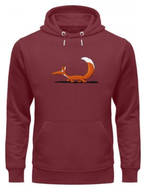 Lässiger cooler Fuchs | Mr. Fox, der Schleicher - Unisex Organic Hoodie-6883