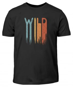 Wild Retro wilder Wald Schriftzug - Kinder T-Shirt-16