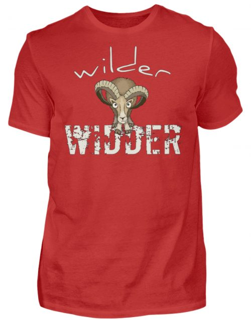 Wilder Widder | Mufflon Cooles Wild-Schaf - Herren Shirt-4