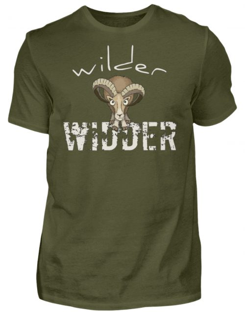Wilder Widder | Mufflon Cooles Wild-Schaf - Herren Shirt-1109