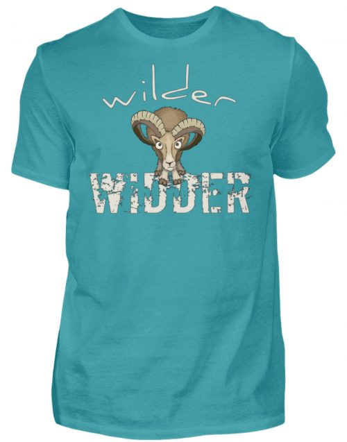 Wilder Widder | Mufflon Cooles Wild-Schaf - Herren Shirt-1242