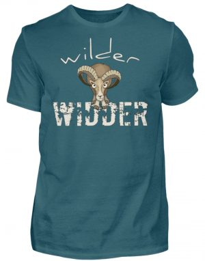 Wilder Widder | Mufflon Cooles Wild-Schaf - Herren Shirt-1096