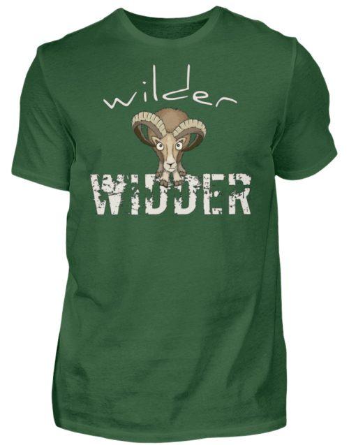 Wilder Widder | Mufflon Cooles Wild-Schaf - Herren Shirt-833