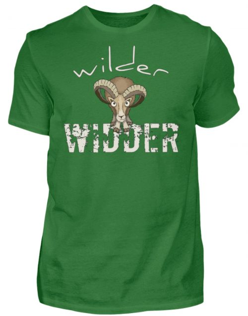 Wilder Widder | Mufflon Cooles Wild-Schaf - Herren Shirt-718