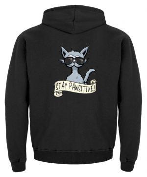 Stay Pawsitive Bleib lässig Hipster Katze - Kinder Hoodie-1624