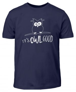 Its OWL good | Easy-Going Eule - Kinder T-Shirt-198