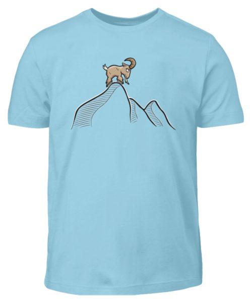 Ziegenbock in den Bergen - Kinder T-Shirt-674