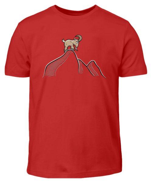 Ziegenbock in den Bergen - Kinder T-Shirt-4
