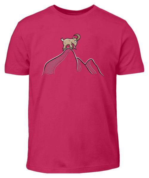 Ziegenbock in den Bergen - Kinder T-Shirt-1216