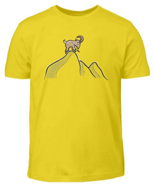 Ziegenbock in den Bergen - Kinder T-Shirt-1102