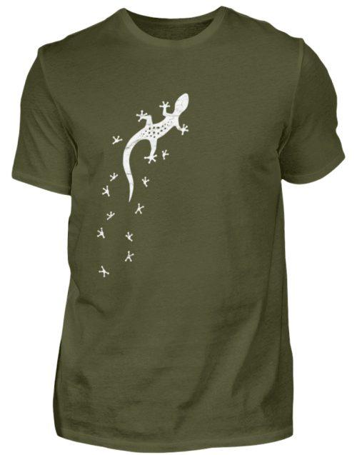 Gecko Silhouette mit Fährte | Sommer, Sonne und mediterraner Urlaub für Salamander-Fans - Herren Shirt-1109