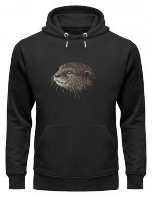 Otter Bleistift Zeichnung Kritzel-Kunst - Unisex Organic Hoodie-16