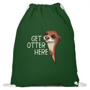 Get Otter Here | Lustiger Otter Kalauer - Baumwoll Gymsac-833
