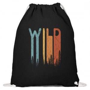 Wild Retro wilder Wald Schriftzug - Baumwoll Gymsac-16